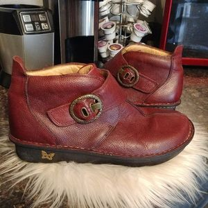 Alegria red leather boots sz 42